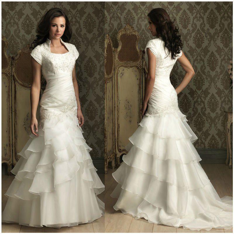 Allure Modest Wedding Gowns: Victorian Wedding Dresses-Mermaid-Wedding-Gown