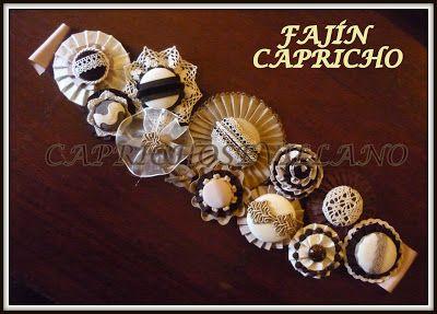 Fajín para vestido o traje de flamenca  Se realizan en gran variedad de colores y materiales.- capricho sevillano