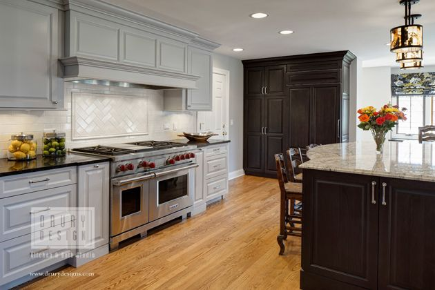 Nice Gray Transitional Kitchen Remodel In Naperville, Illinois Featuring Light  Gray Cabinets, Medium Stained Hardwood