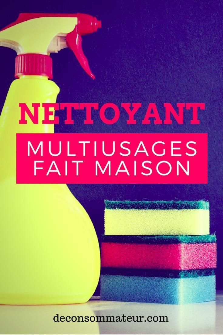 Le nettoyant multi-usages fait maison | Nettoyant multi-usage, Nettoyant, Fait maison