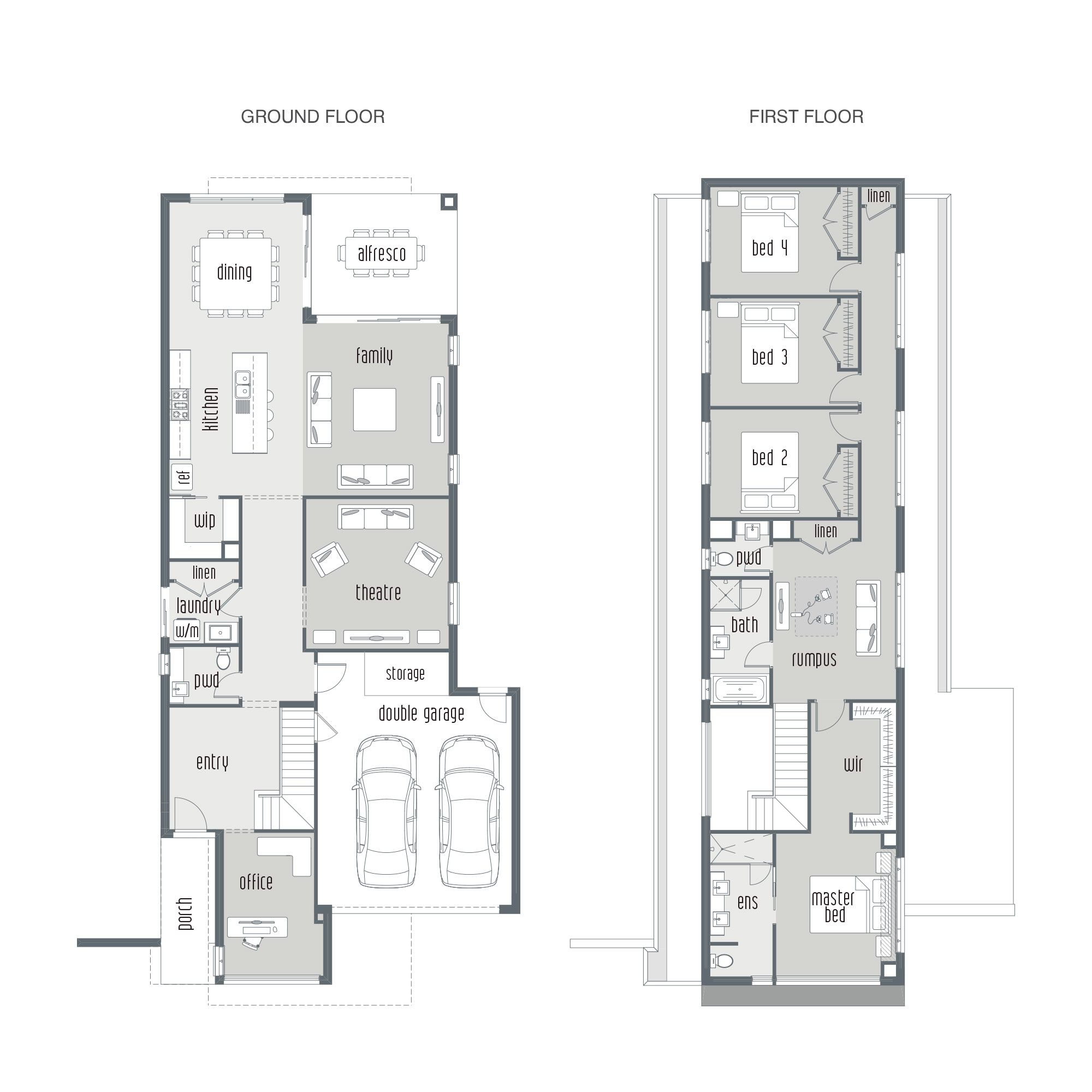 dual occupancy house plans google search townhouses