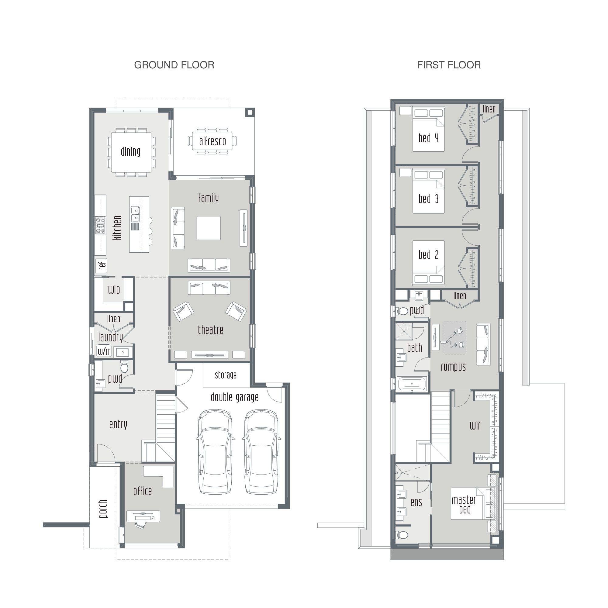 Block Home Designs Narrow: Dual Occupancy House Plans - Google Search