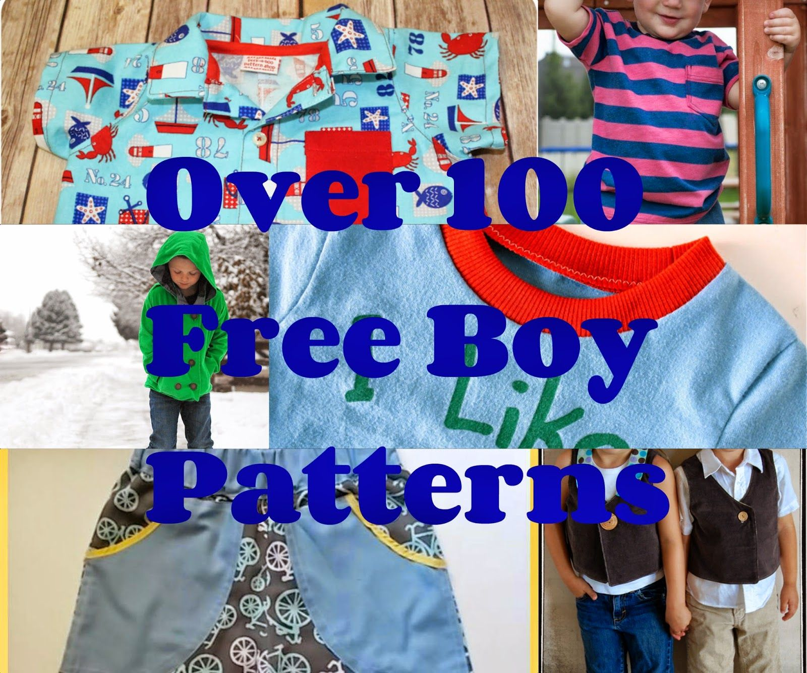 Free Boy Patterns (With images) | Boys sewing patterns ...