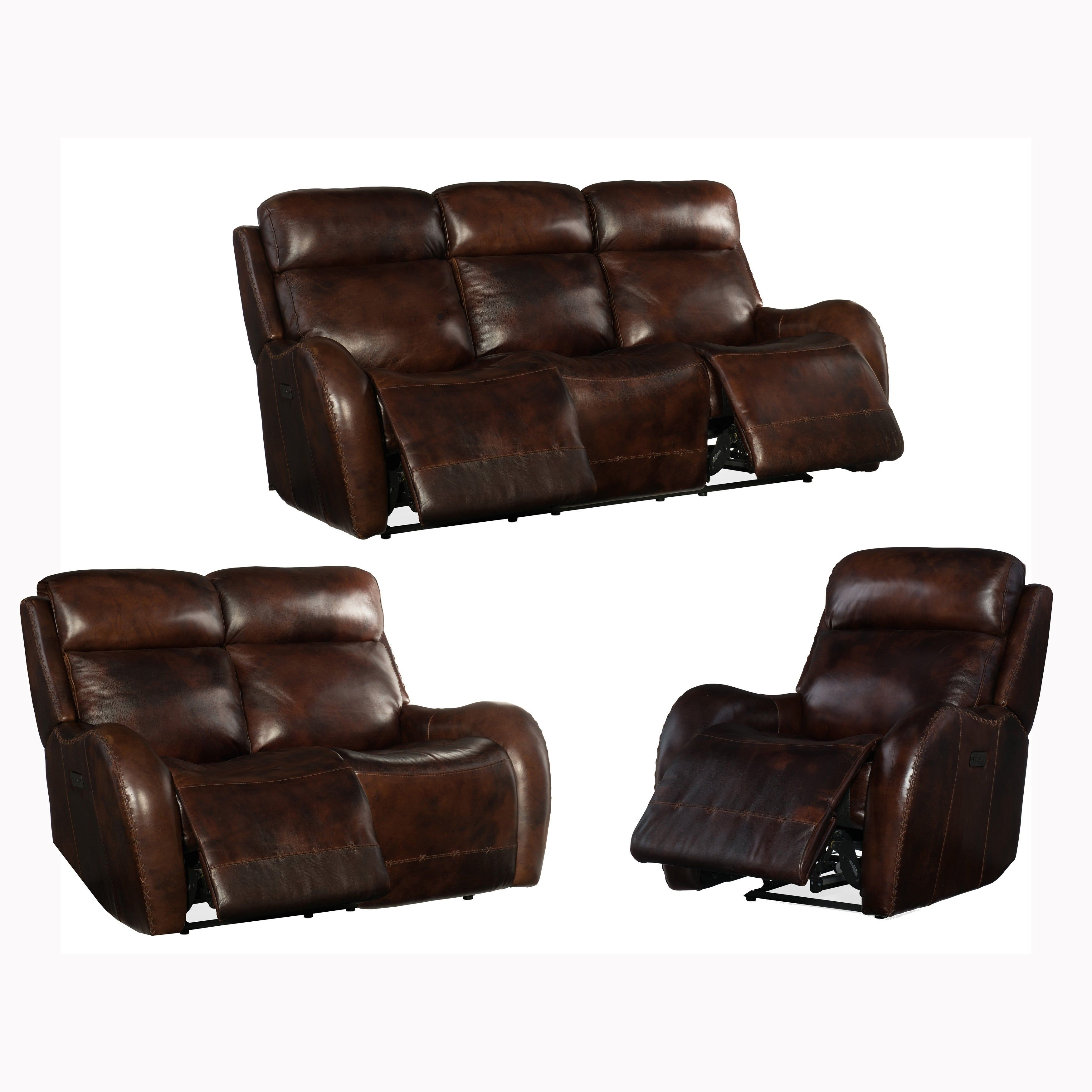Pleasant Soren Brown Top Grain Leather Power Reclining Sofa Loveseat Bralicious Painted Fabric Chair Ideas Braliciousco