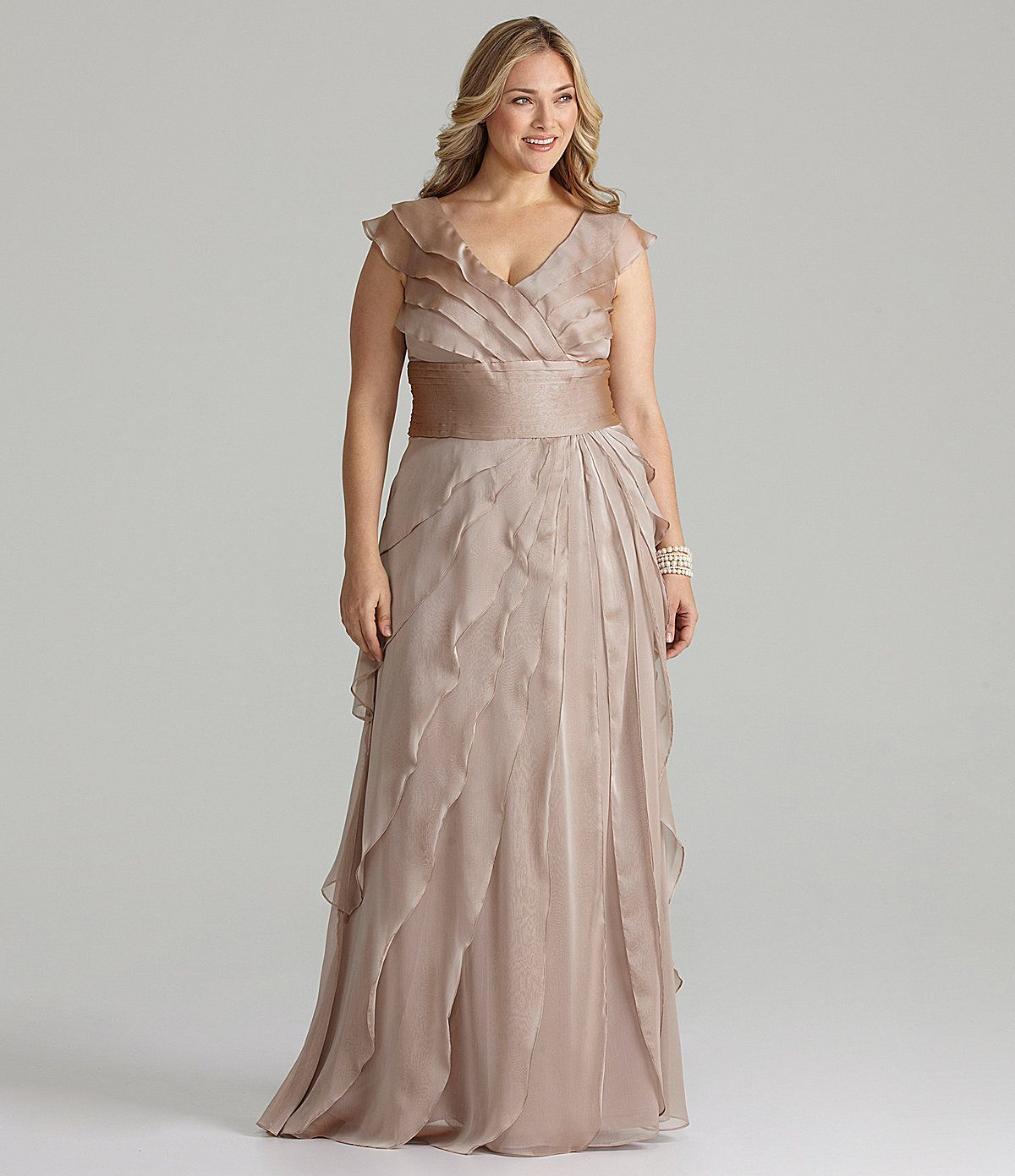Adrianna Papell Plus Tiered Gown | Dillards.com | Lindsey\'s Wedding ...