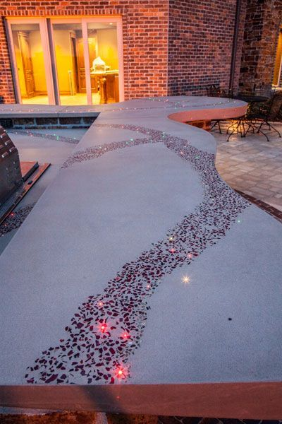 Could Do A Diy Glass Counter But Install Straws Throughout The Concrete To  Later Fill With Led Lights So They Can Be Replaced Later. Fill The Hole  With A ...
