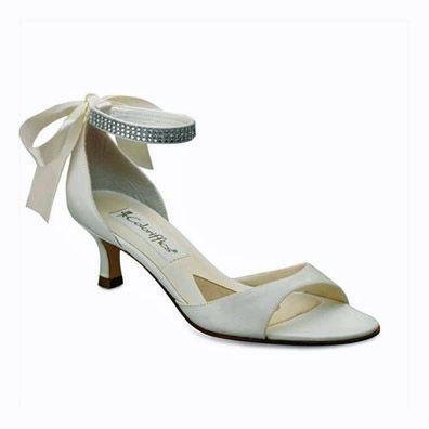 Carmen Ivory Low Heel Bridal Shoes
