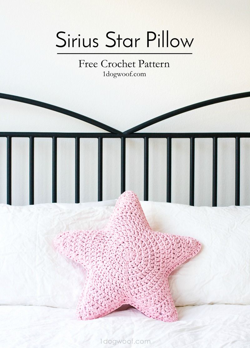 Sirius The Crochet Star Pillow Crochet Pillow Patterns Free Crochet Star Patterns Crochet Pillow Pattern