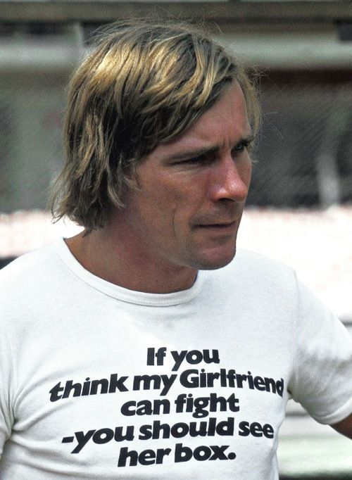 Motorsport T-Shirt Formula 1 World Champion 1976 James Hunt Vintage T-Shirt