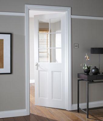 London Stile Rail 6 Lite Glazed Internal Door 762mm Wide