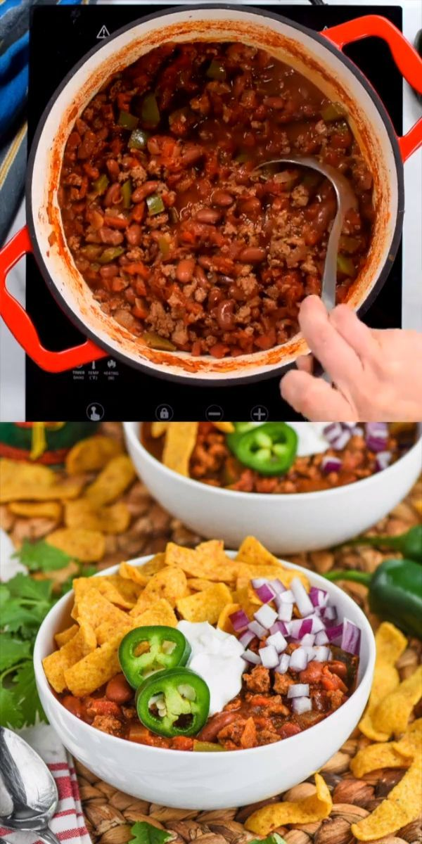This Healthy Turkey Chili is easy to make and absolutely ...