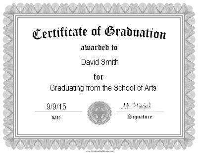 Certificate of graduation certificate templates pinterest certificate of graduation certificate yelopaper Choice Image