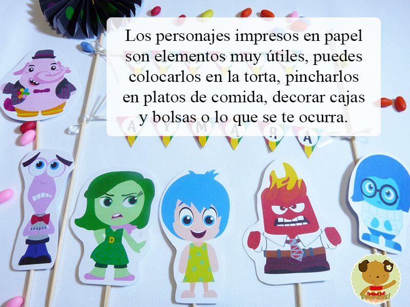 fiesta intensamente personajes decorativos imprimibles | cumpleaños ...
