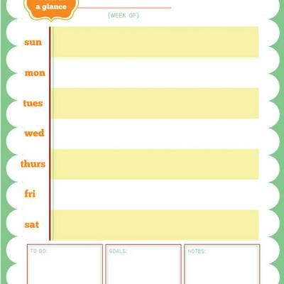 FREE printable weekly planner Printables Galore Pinterest - free printable weekly calendar