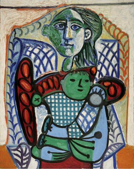 Pablo Picasso, Maternité, October 30, 1948 Oil on canvas 36 3/16 x ...