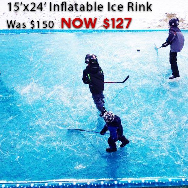DIY backyard ice rinks. No tools. Easy do it yourself ice ...
