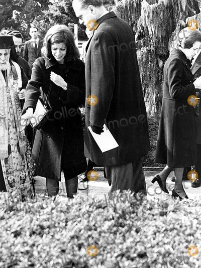 Christina Onassis At The Funeral Of Her Mother Tina Lavinos Niarchos 1973 Aristoteles Onassis
