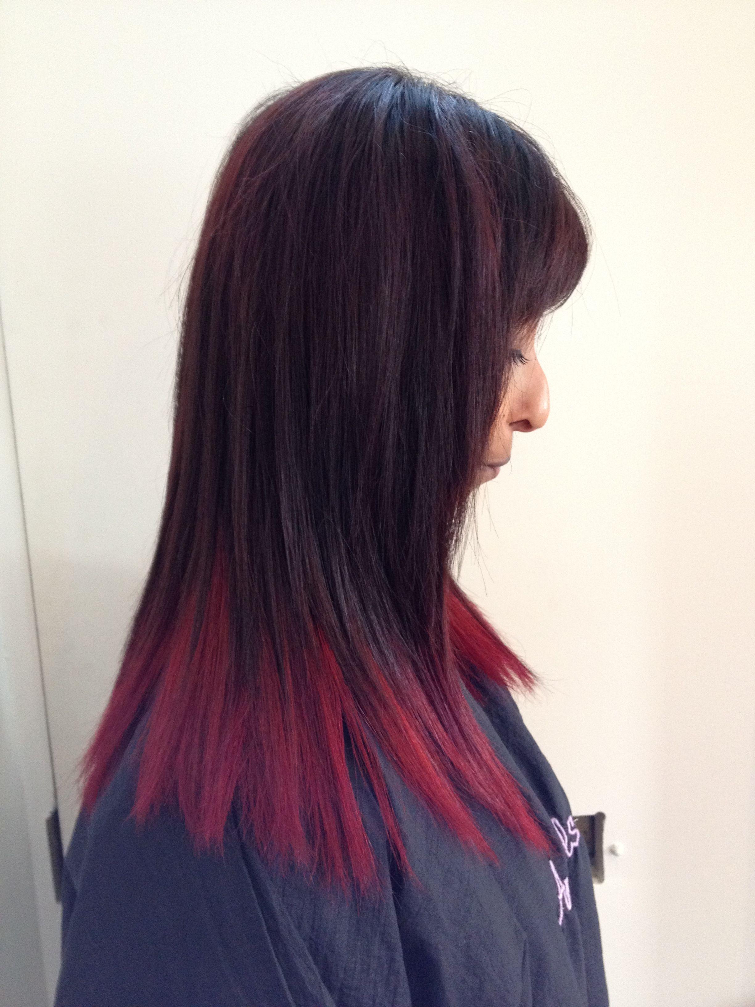 red dip dyed hair Hairr Pinterest