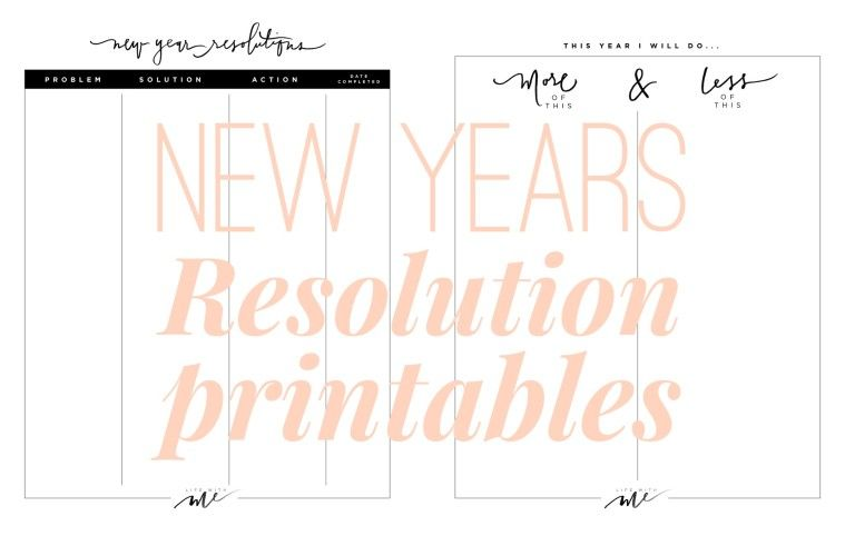 New Years Resolutions Printable Worksheets Life With Me By