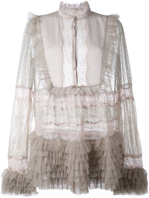 AMEN Sheer Ruffled Blouse. #amen #cloth #blouse