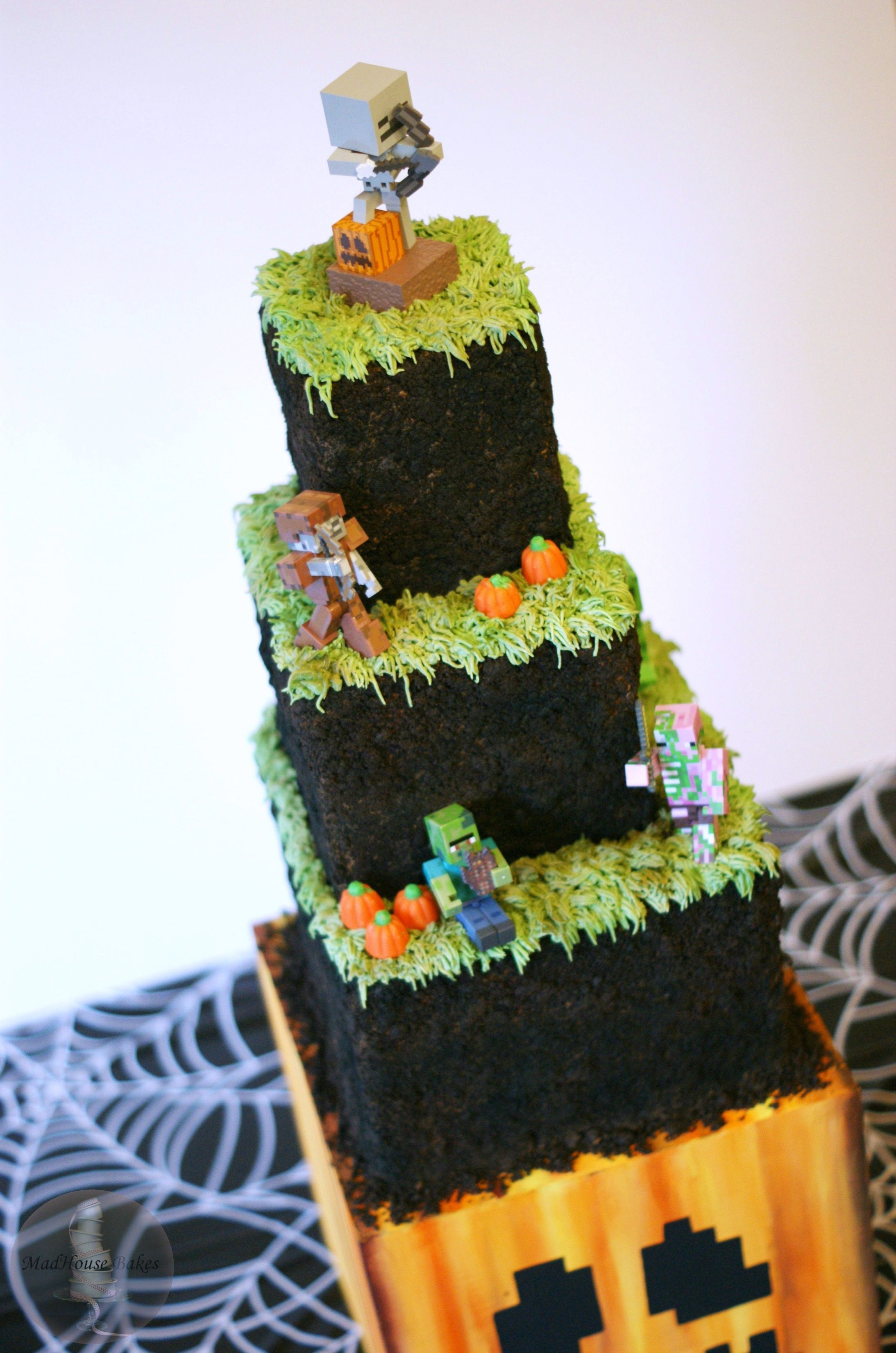 Minecraft Themed Birthday Cake By Madhouse Bakes Themed
