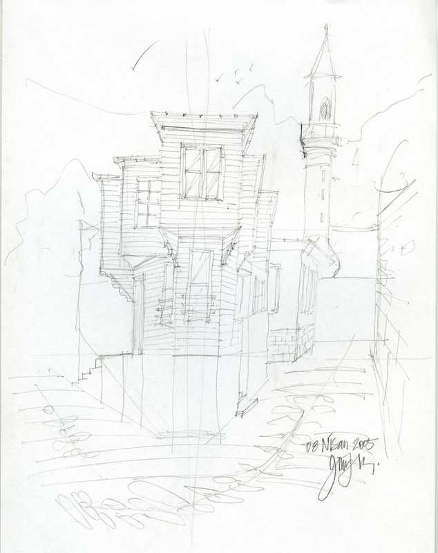 rough architectural sketches. Rough Sketch By Gürkut Uysal Architectural Sketches