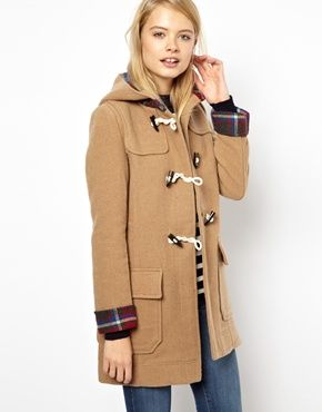 Image 1 of ASOS Bonded Check Duffle Coat. This coat is fab ...