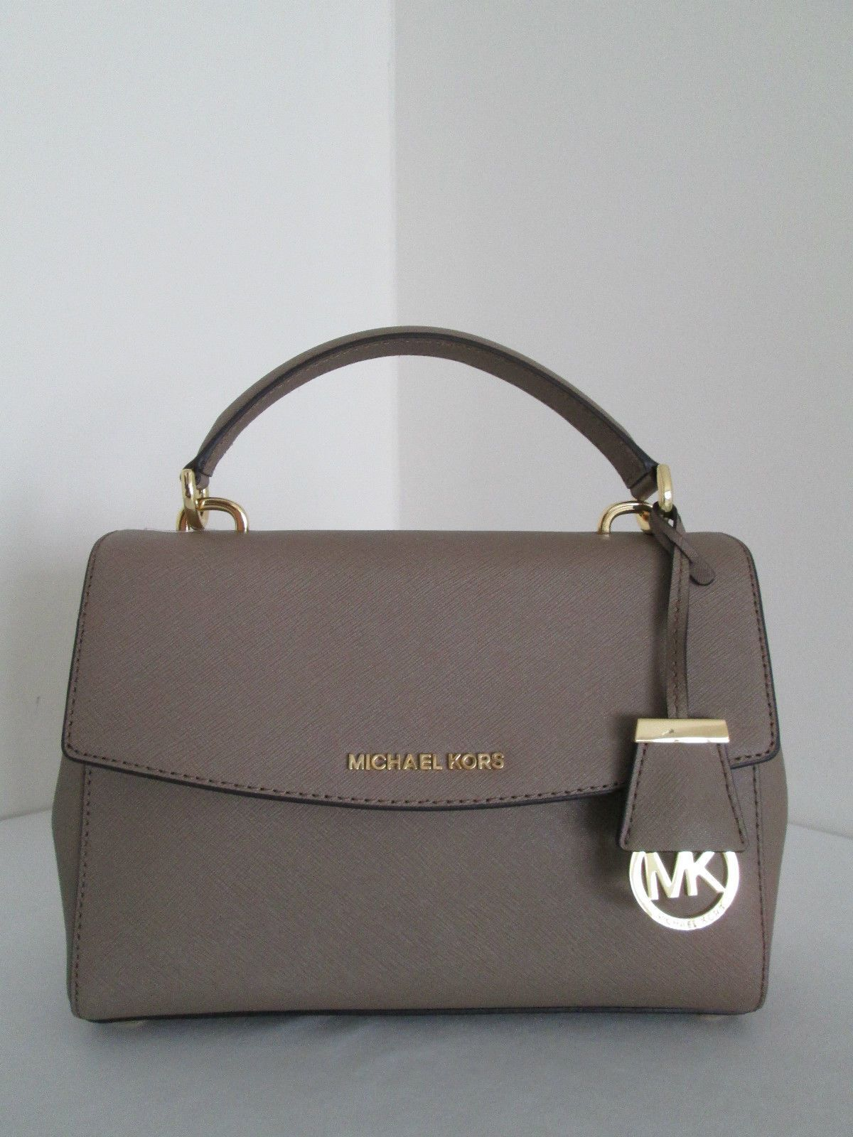 cca0e888b2b3 NWT New Michael Kors Ava Dark Dune Small Satchel Saffiano Leather ...