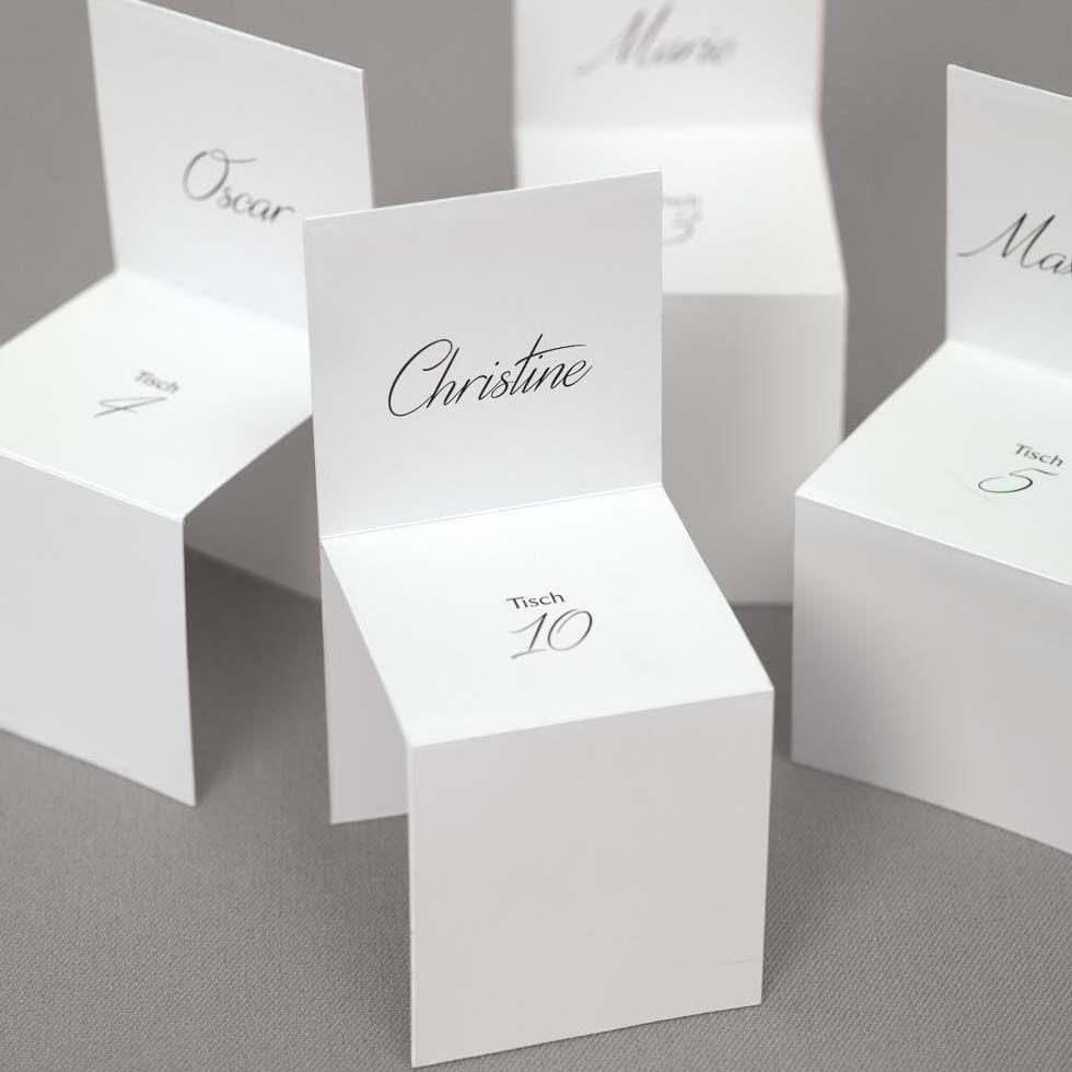 Platzkarten Stühle | Tischkarten konfirmation, Tischkarten