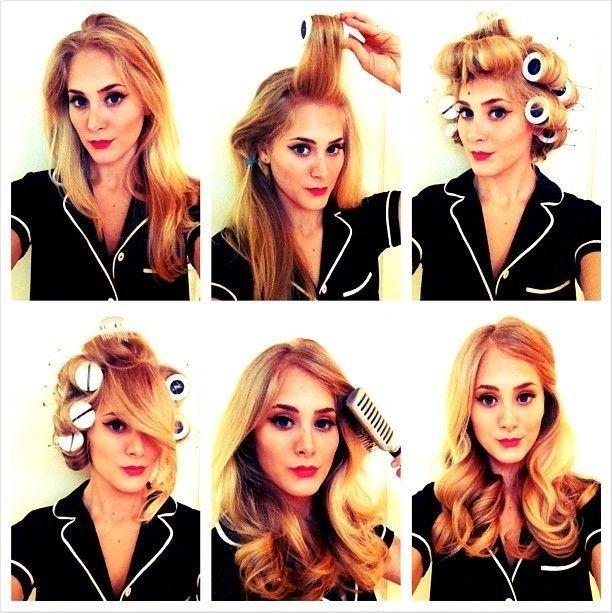 Old Hollywood Giant Roller Waves Vintage Hairstyles Tutorial Long Hair Styles Hair Tutorial