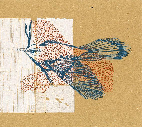 Mockingbird Makeready on Chipboard