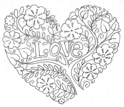Valentine\'s Day | zentangle/doodling | Pinterest - Mandalas, Bordado ...