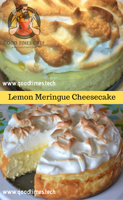 Lemon Meringue Cheesecake - Good Times #lemonmeringuecheesecake