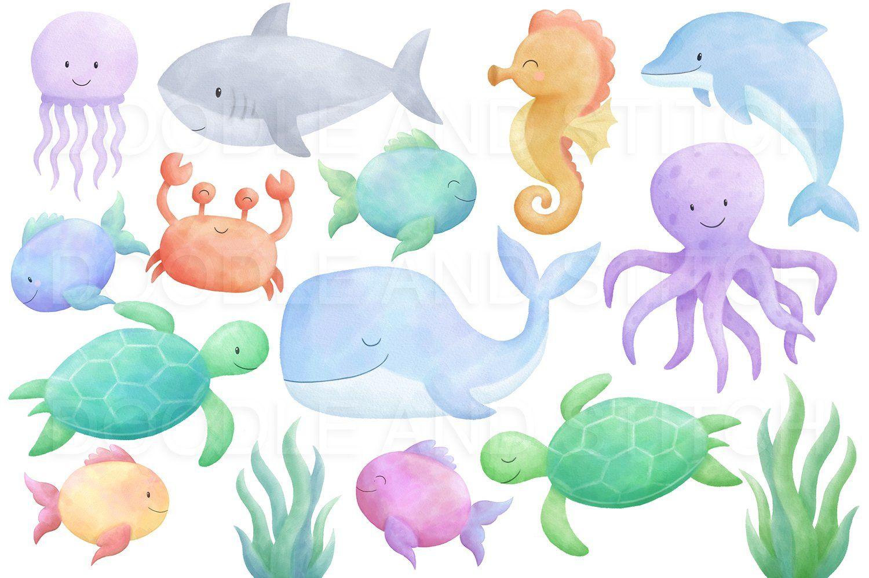 Under The Sea Watercolor Designs Sealife Watercolor Sea Illustration Sea Drawing