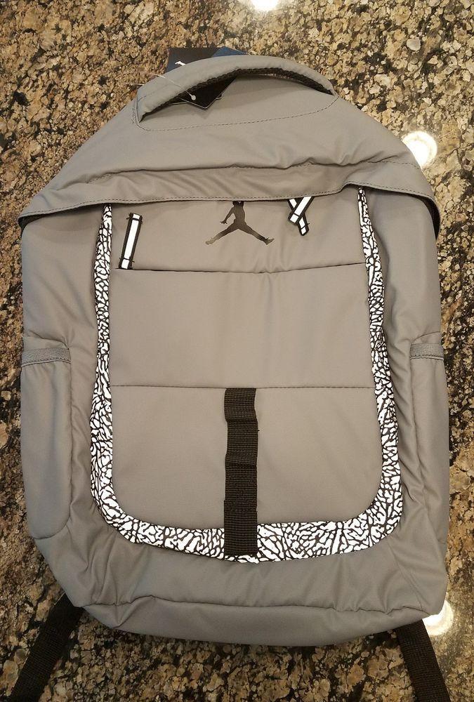 NIKE JORDAN BACKPACK JUMPMAN BOOK BAG LAPTOP GREY 3M 9A1685 146  Nike   Backpack ae88eff3b27c9