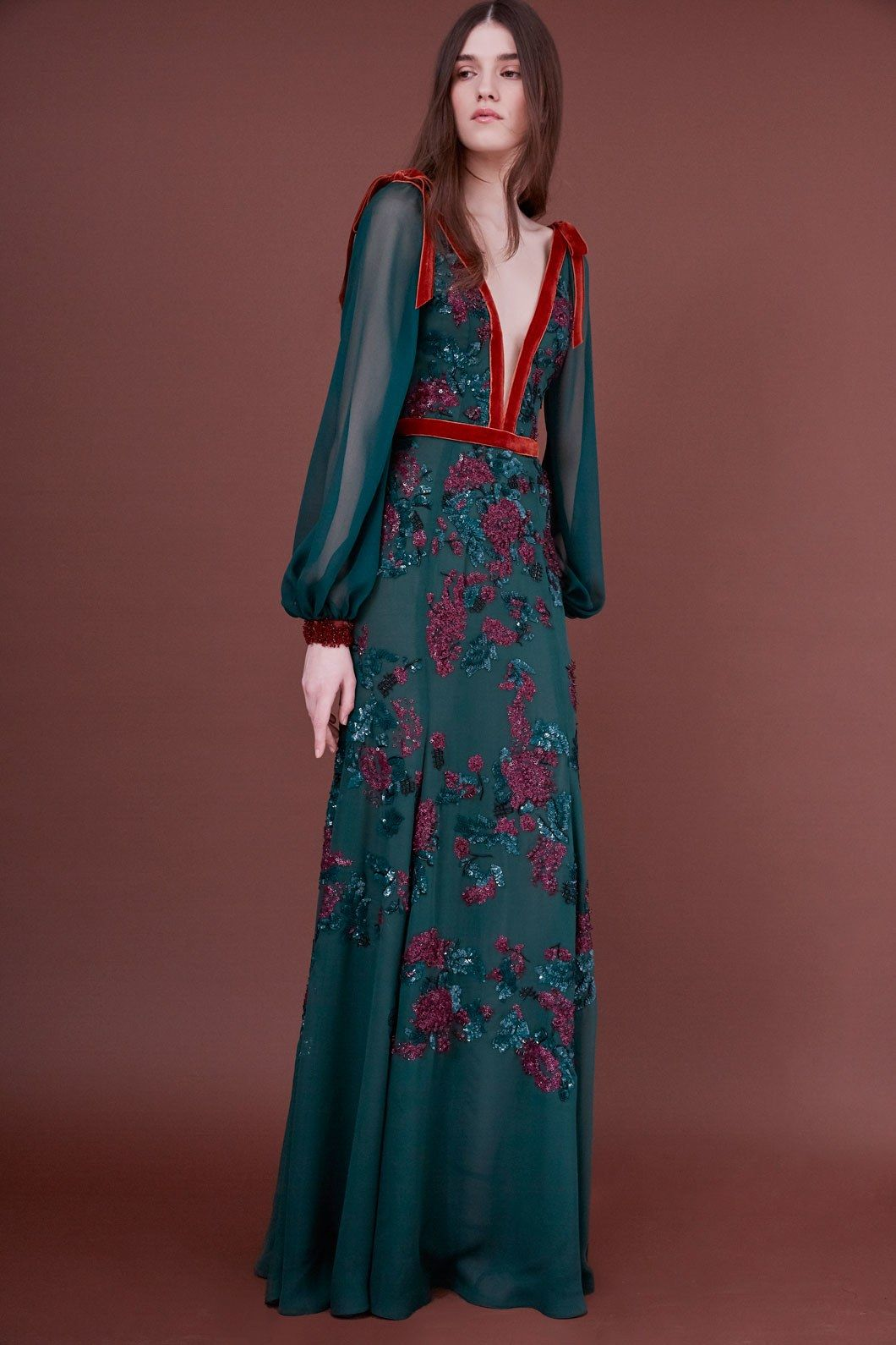 J mendel prefall fashion show collection gowns and