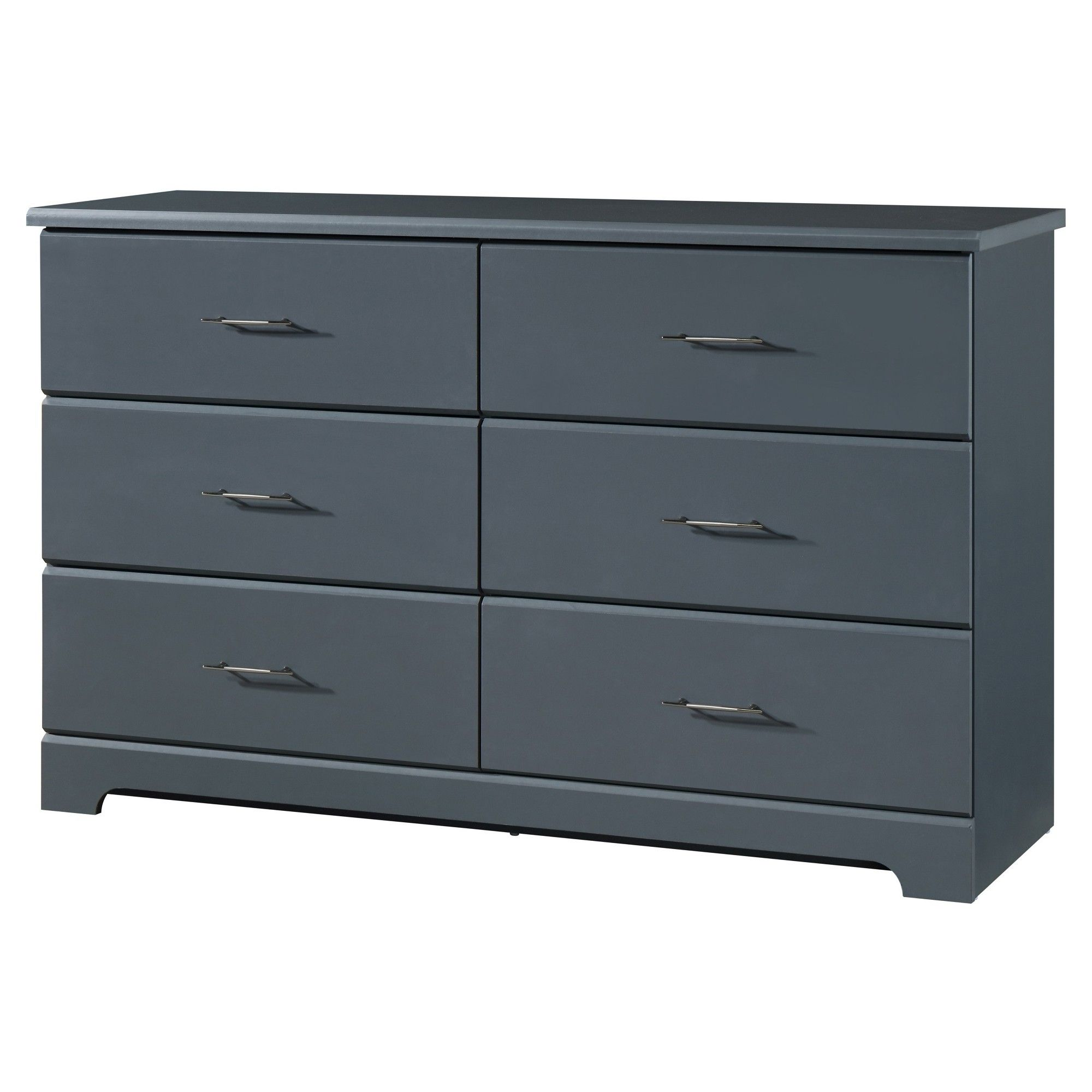 Storkcraft Brookside 6 Drawer Dresser Gray 6 Drawer