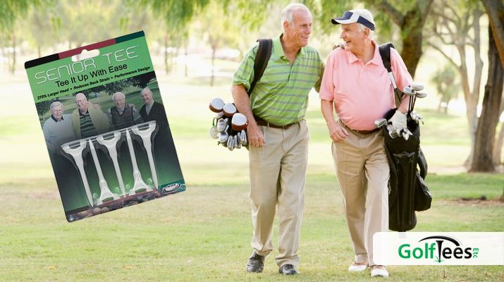 Senior golf tee cup is 270% larger than a standard golf ...