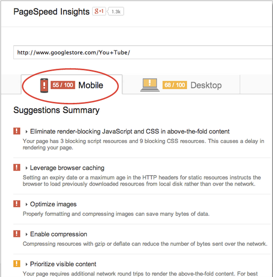 PageSpeed Insights Search engine optimization, Search