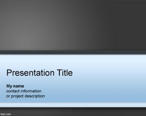free announcement powerpoint template background with blue and black