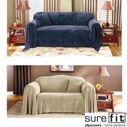 Sure Fit Plush Sofa Throw Cover