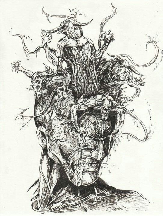 The demons in my head | Poetry art, Art, Demon