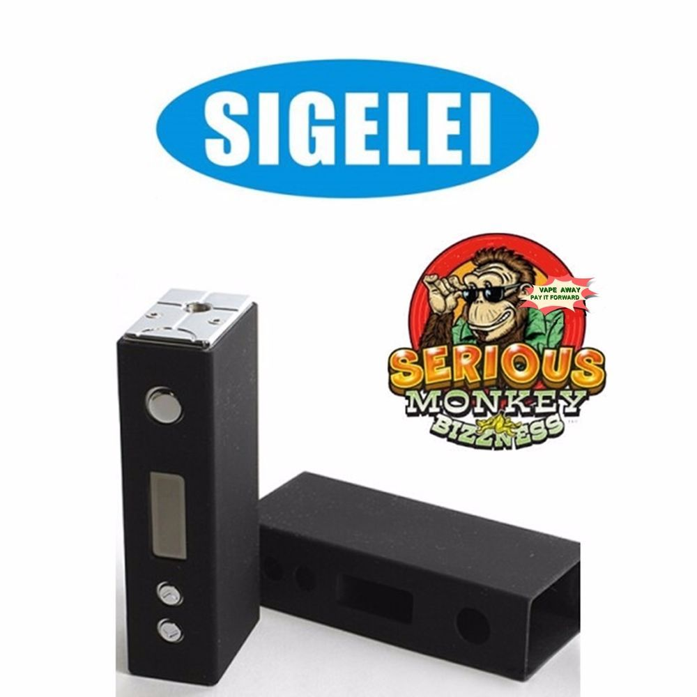 AUTHENTIC Sigelei 30W MINI BLACK + Silicone Sleeve + Bag of RAYON #AUTHENTICSigelei30WMINI