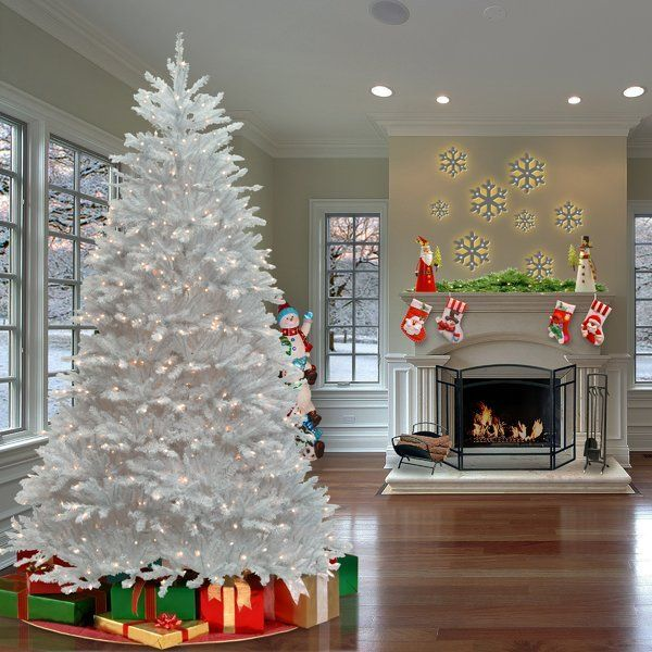 75\u0027 White Fir Artificial Christmas Tree with 750 Clear/White Lights