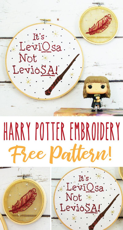 Harry Potter LeviOsa Embroidery Pattern -
