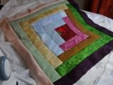pattern for log cabin cushion cover