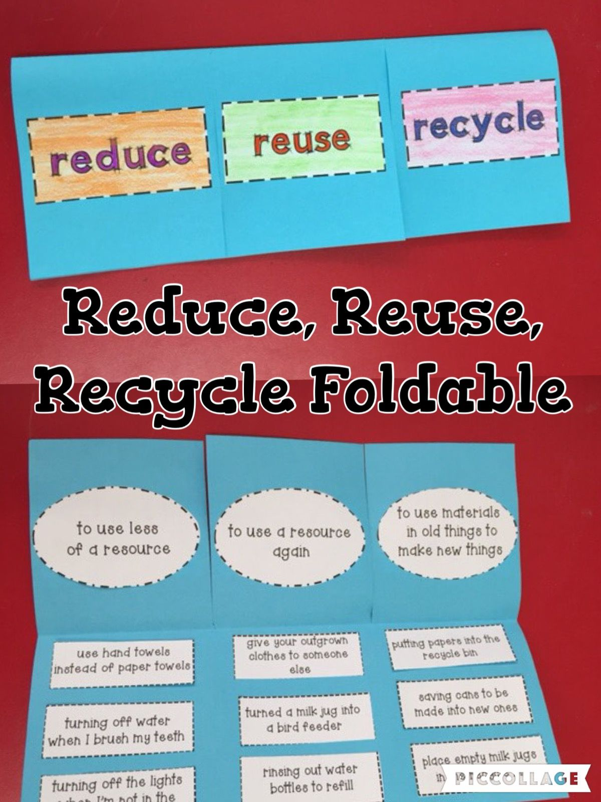 This Reduce Reuse And Recycle Foldable Is Great Use It
