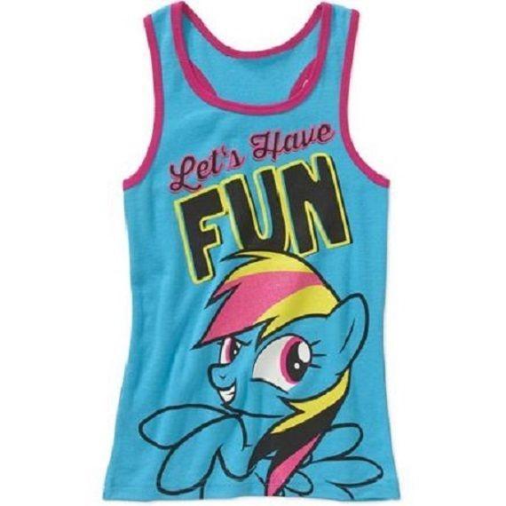Girls My Little Pony Rainbow Dash Tank Top Shirt New with Tags Size M 7/8  BNWT #MyLittlePony #TankTop #BirthdayEverydayHoliday