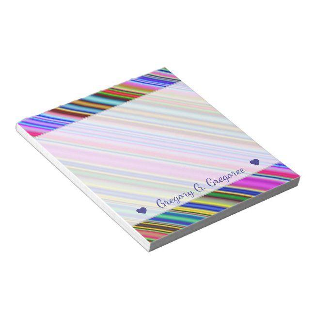 Vibrant & Eyecatching Multicolored Stripes Pattern Notepad #Ad , #sponsored, #Multicolored#Stripes#Pattern#Eyecatching