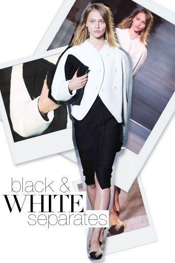 Fall 2013 Fashion Forecast: Black & White Separates